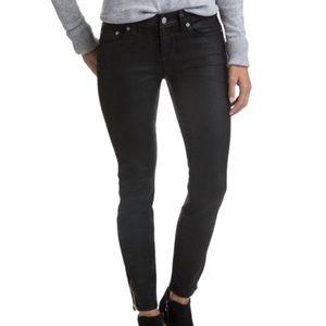 Vineyard Vines Black Coated Ankle Skinny Jeans